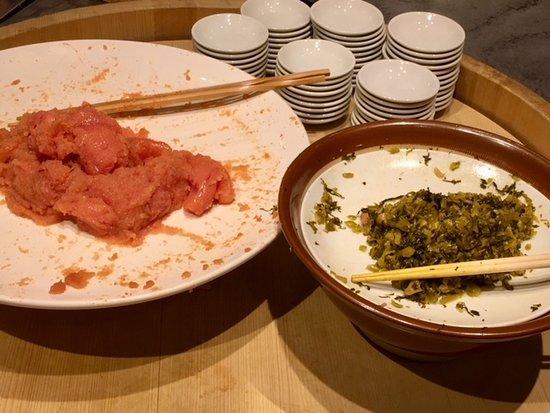 博多ふくいち さいたま新都心店, 食べ放題の明太子&高菜