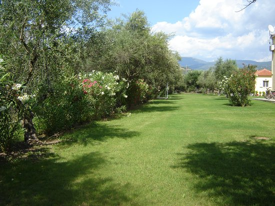 Anthos Guest Houses: Expansive lawn for play and relaxation
