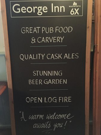 The George Inn: Pub Classics Menu also ALL DAY as well as Carvery