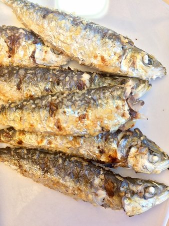 Delicious sardines.