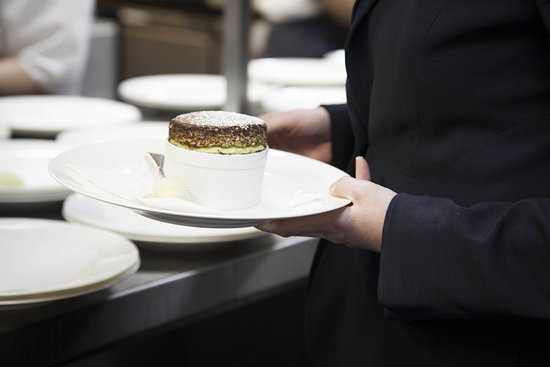 The Rex Whistler Restaurant, Tate Britain: Pistachio Souffle for a private dinner event