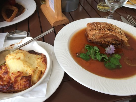 Pork belly with dauphinoise potatoes