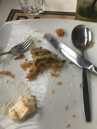 "Restaurante A Praca : le fameux ""runner beans in tempura"""
