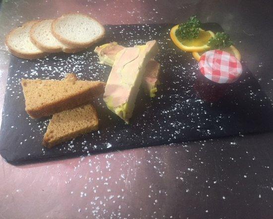 La Grange: assiette de foie gras fait maison