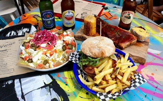 Vicino : Loaded Cheese Nachos & Brooklyn Chick Burger