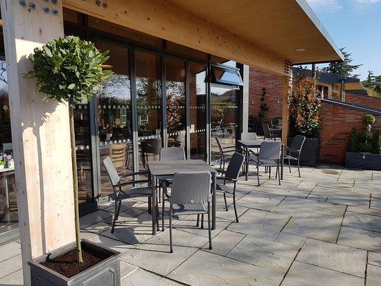 Dean's Garden Centre & Coffee Shop : Part of our outdoor seating area