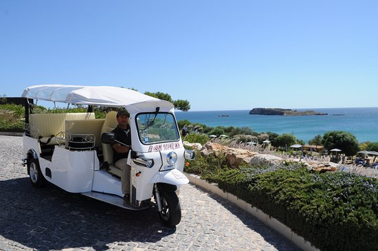 Sagres, Portugal: Rui with his Tuk Tuk at the Martinhal beach