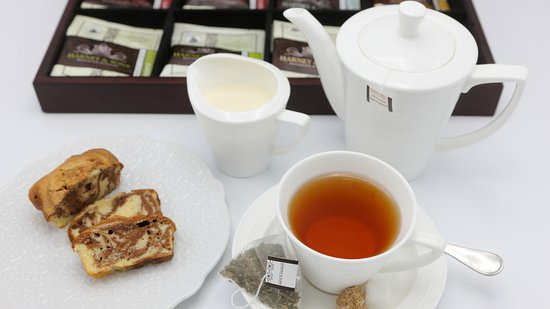 Tea time at Hostellerie Mont Kemmel.