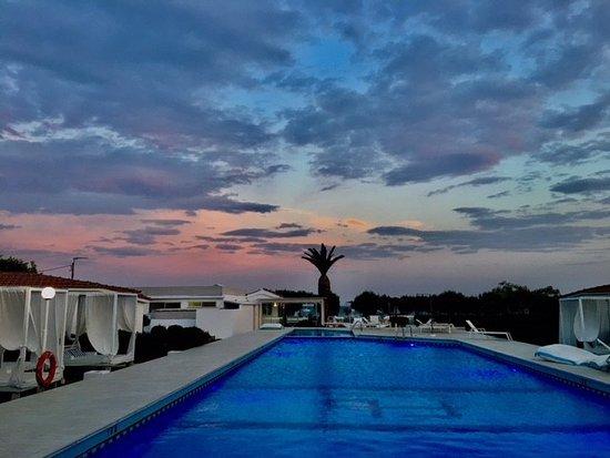 Poolarea at Fito Aqua Bleu Resort in the evening