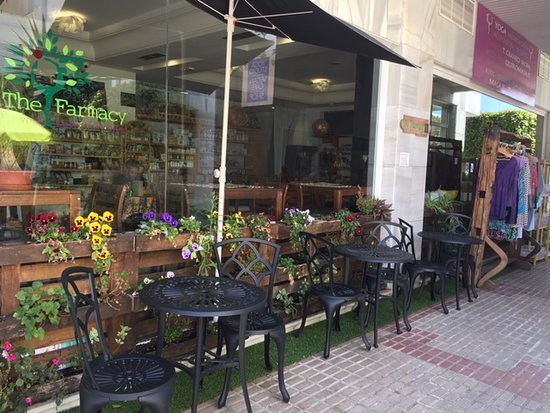 The Farmacy: outdoor seating -- Marbella weather is perfect.