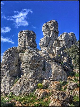 El Torcal de Antequera: Vista de formaciones rocosas