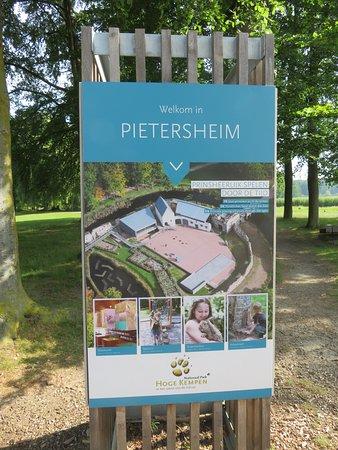 Lanaken, Belgio: welkomsbord Pietersheim