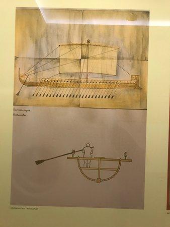 Ανάκτορο Μον Ρεπό: Explanation about the improved oars