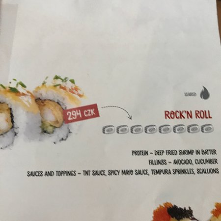 parts of the menu of our order may 2018 プラハ yami sushi bistro