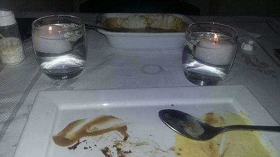 Steak Club : Sobremesa: Petit Gateau e Pão Brioche com creme de café e sorvete de baunilha