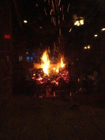 Murphy's: fireplace