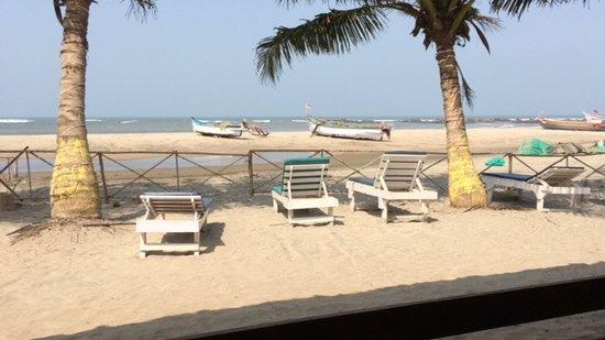 Morjim Coco Palms Beach Resort : The beach area