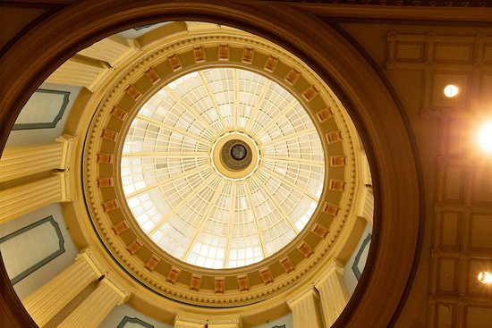 South Carolina State House: Interior of capitol dome.