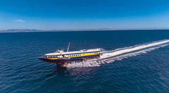 Dodecanese Flying Dolphins: Arrival of Fast Hydrofoil AEGEAN PRINCE to Rhodes from Fethiye