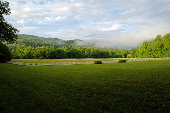 Walland, TN: View of the Smokies across the property