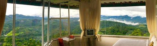 Nillambe, Sri Lanka: View range of misty mountains