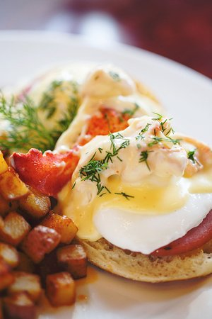 Firefly American Bistro : Firefly Lobster Benedict - available during Sunday Brunch