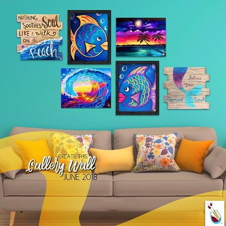 Painting with a Twist: Create your own collage wall!