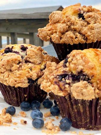 Neck Run Cafe: Blueberry Muffins