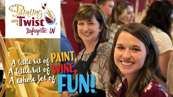 A little bit of paint, a little bit of wine and a whole lot of FUN! Lafayette's #1 Late Night Ou