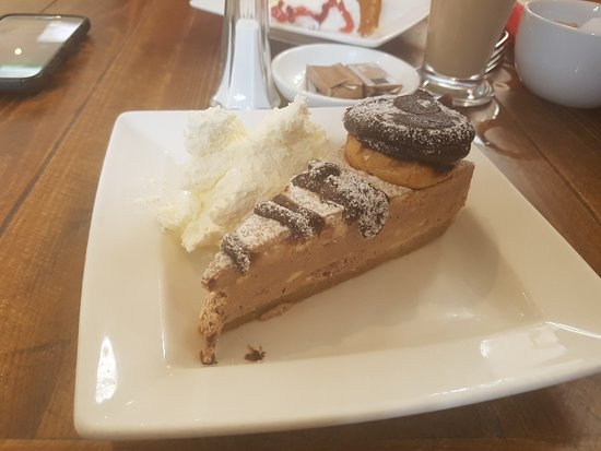 The Village Rest: chocolate profiterole cheesecake