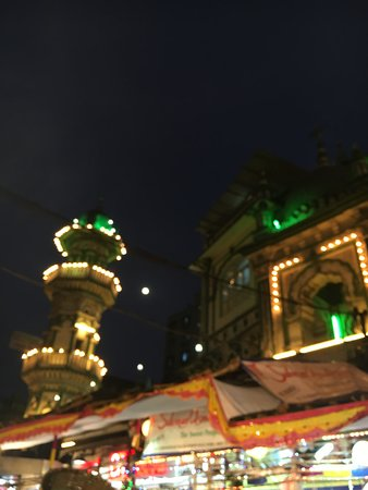 Namaste Indian Travels: The mosque and the moon shining together