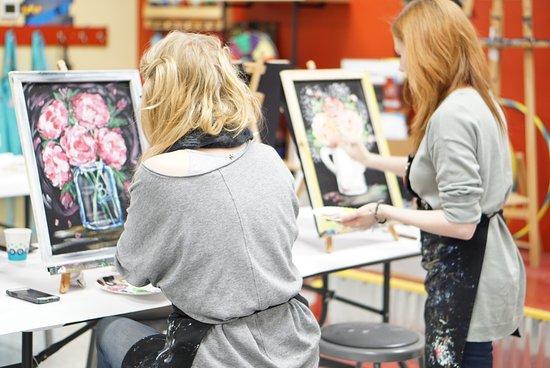 Painting with a Twist : Rebeca Flott Arts Screen Art!