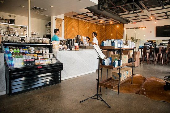 Cavo Coffee: Interior view from a corner table.