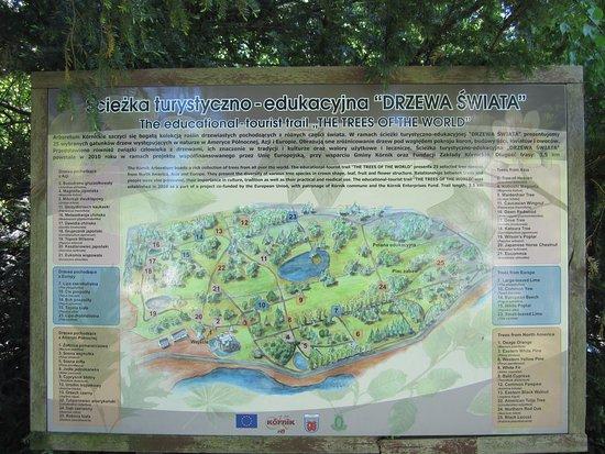 Kornik, Πολωνία: План парка