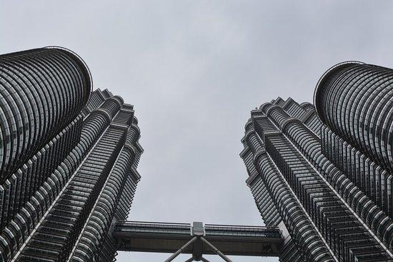 ตึกแฝดเปโตรนาส: Towers from the ground floor