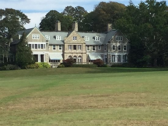 Bristol, RI: VIEW OF HOUSE FROM WATERS EDGE