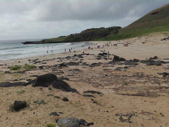 Anakena Beach ภาพถ่าย