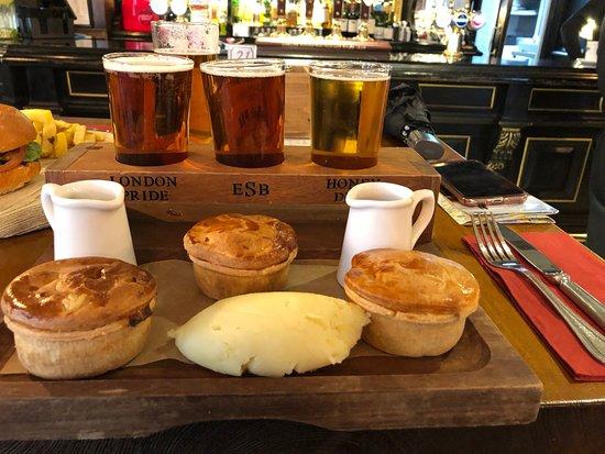 Fuller's Pie and Ale House: Pie/Beer Sampler