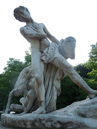 Statue Le patre et la chevre