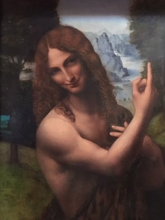 Pinacoteca Ambrosiana: Saint John the Baptist - Gian Giacomo Caprotti, also known as Salai
