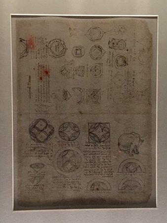 Pinacoteca Ambrosiana: A page of the Codex Atlanticus - Leonardo da Vinci