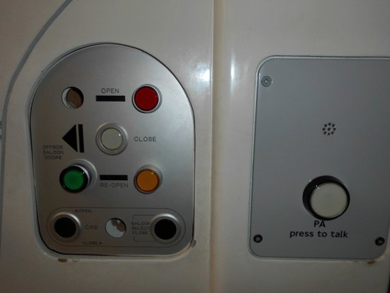 London Transport Museum: buttons from a tubes driver cab