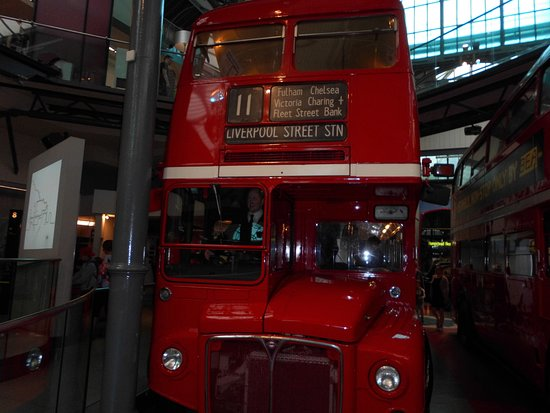 London Transport Museum: a route master bus