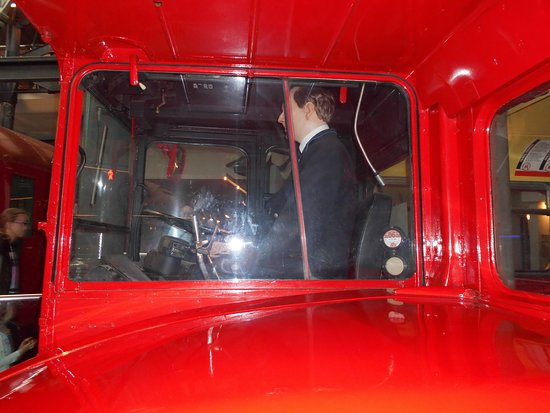 London Transport Museum: drivers view from a route master bus
