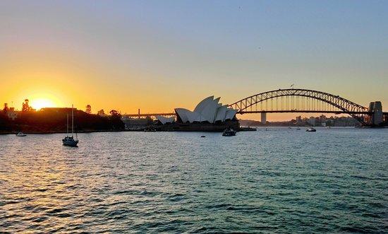 Royal Botanic Garden Sydney: Royal Botanic Garden, sunset view from Lady Maquarie's Chair