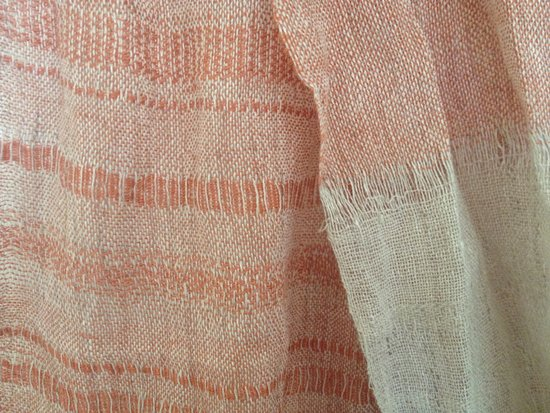 Arts & Crafts Village: Linen scarf - hand woven