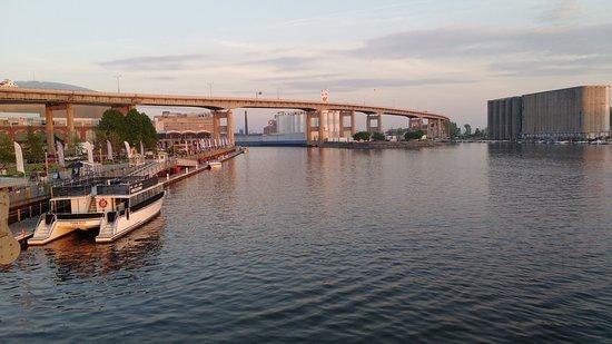 Hello Buffalo! Urban Hikes & Bikes: Buffalo's Canalside - Buffalo River