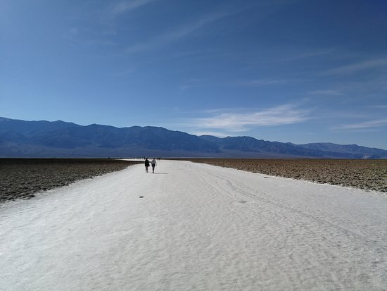 Walking on Salt in Badwater Basin