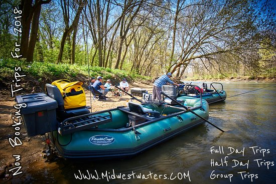Midwest Waters Angling Co: We offer group raft trips, 3 or 4 anglers, 2 boats, 2 guides, and a great experience