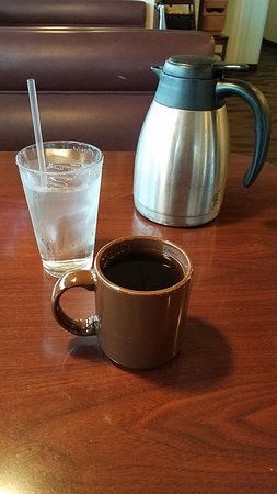Village Inn: The coffee and carafe
